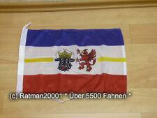 Fahnen Flagge Mecklenburg Vorpommern Bootsfahne Tischwimpel - 30 x 45 cm