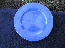 Tre Ci Solid Blue w/ Black Brushstrokes Rimmed Dinner Plate