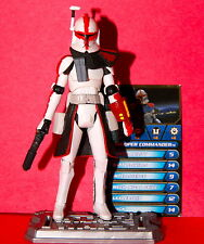 STAR WARS CLONE WARS ARC TROOPER COMMANDER LOOSE