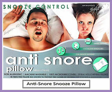 2x Cuscino anti-snore, qualità del controllo SNOOZE Ortopedico Cuscino Supporto
