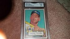 1952 TOPPS MICKEY MANTLE RARE-ROOKIE REPRINT BASEBALL CARD GRADED GEM MINT 10