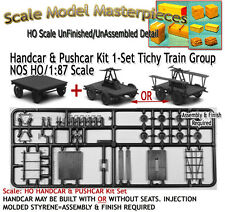 Handcar & Pushcar Kit 1-Set/Kit NOS Tichy Train Fine Scale Craftsman HOn3/HOn30