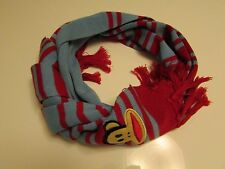 Authentic Paul Frank Julius Face Striped Scarf  Unisex  Blue /Red