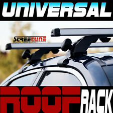 "Silver 50"" Adjustable Window Frame Roof Rack Rail Cross Bars Luggage Carrier S9"