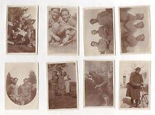 Lot 8 PHOTOS ANCIENNES - Militaire Soldat Permission dans la famille ? Vers 1910