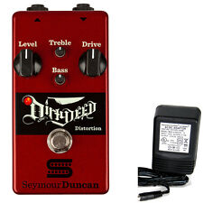 Seymour Duncan Dirty Deed Distortion pedal w/ 9v power supply free shipping!
