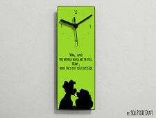 Lady and the Tramp Kiss - Wag, and the world wags with you ... - Wall Clock