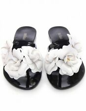 Authentic Melissa Shoes Sandals Flip Flops Thong Harmonic Garden Black sz.US 9