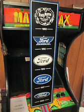 FORD BRAND LOGOS Thru The Years METAL EMBOSSED SIGNS MAN CAVE GARAGE SHOP