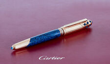 Cartier Fountain Pen 1990 Vintage Panthere Godron Must Blue Marble Rare