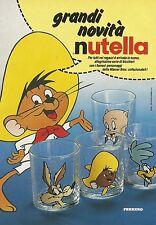 X7253 Nutella - Bicchieri personaggi warner bros - Pubblicità 1991 - Advertis.