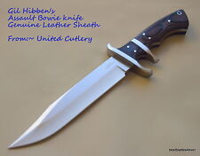 UNITED CUTLERY GIL HIBBEN ASSAULT BOWIE HUNTING KNIFE WITH LEATHER SHEATH