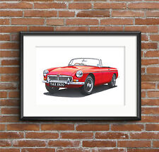 MGB Roadster  POSTER PRINT A1 size