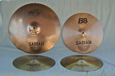 "SABIAN B8 PRO RIDE B8 CRASH + 14"" ZILDJIAN HI HAT CYMBAL PACKAGE 4 CYMBALS! #Y45"