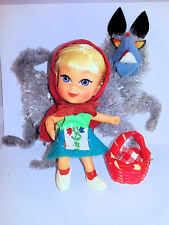 Mattel Liddle Kiddles Doll Red Riding Hiddle Wolf Hood Shoes EX/NM Vintage Retro