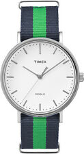 TW2P90800 Timex Weekender Fairfield Mens Watch White Dial Nylon StrapTW2P908009J