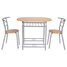 3 PCS Table Chairs Set Kitchen Furniture Pub Home Restaurant Dining Set New