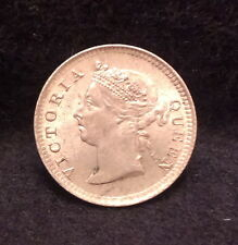 Rare 1899 Straits Settlements silver 5 cents, only 78,000 minted, UNC, KM-10