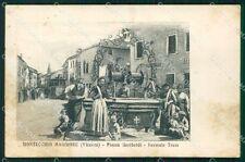 Vicenza Montecchio Maggiore Tram MACCHIE cartolina QT2528