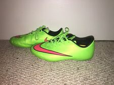 Nike Jr Mercurial Victory V IC Soccer Shoes  651639 360 ElectricGreen Size 5