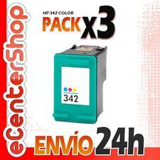 3 Cartuchos Tinta Color HP 342 Reman HP Photosmart C3180 24H