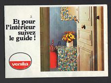 """VENISSIEUX (69) USINE de PEINTURES ,VINYLE, ADHESIF """"VENILIA"""" Catalogue VINTAGE"""