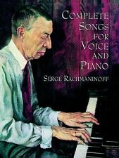 Serge Rachmaninoff Complete Songs For Voice & Piano Play Classical Music Book