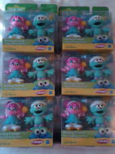 Lot of 6 NIP Sesame Street Skating Friends Figure Sets- Abby Cadabby and Rosita