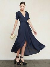 Reformation Lochness Navy Gown Dress Size Xs Bnwt