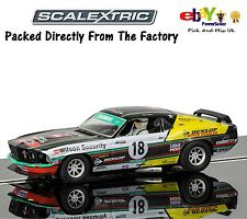 NUOVO Scalextric Slot Car Ford Mustang Boss 302 1969-JOHN BOWE Clipsal 500 c3728