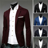 Fashion New Stylish Mens Casual Slim Fit One Button Suit Blazer Coat Jacket Tops