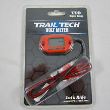 Trail Tech TTO Volt Meter Digital Gauge Orange Voltage Front Button 743-V00-BL