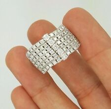 JPM 2.02 Ct. 14K WHITE GOLD DIAMOND LADIES LARGE CURVED CLUSTER DESIGNER RING