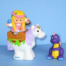 Fisher-Price Little People Toys Maid Marian Unicorn Horse Dragon Lot 13