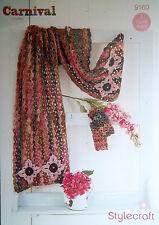 Stylecraft Grueso Crochet patrón encaje Chal Bufanda Guantes 9160