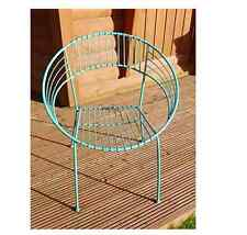 NEW FUNKY RETRO GARDEN TABLE AND TWO CHAIRS PATIO SET METAL OUTDOOR FURNITURE