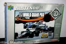 F-1 WORLD GRAND PRIX GAMES USED N64 ED PAL PLAYERS CHOICE MANUALE MANCANTE FR1