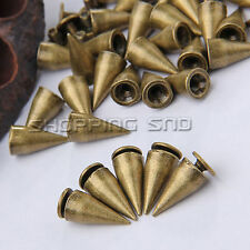 DIY 14mm Black/Gold/Silver Cone Screw Metal Stud Leathercraft Rivet Bullet Spike
