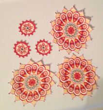 Spiro Flower Medallions - Iron On Fabric Appliques