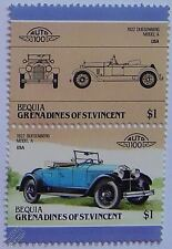 1922 DUESENBERG MODEL A Car Stamps (Leaders of the World / Auto 100)