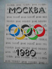 USSR 1980 MOSCOW Olympic Games. Vintage POSTER with Olympic Symbol
