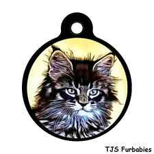 MAINE COON CAT -Custom Personalized ID Tag for Cat & Dog Collars & Harness