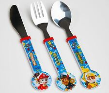 Spearmark NickJr Paw Patrol Childrens 3 piece cutlery set Gift Age 3 - 4 Round