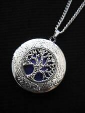 Árbol de la vida Medallón Collar Colgante Gótico púrpura de Plata Vintage De Fantasía FAE
