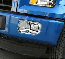 For 2015 - 2017 Ford F150 F-150 ABS Chrome Front Fog Light Lamp Cover Trim 2pcs