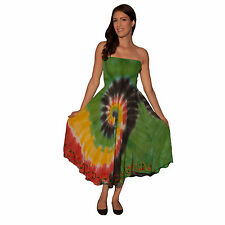 Women's Rasta Tube tiedye beach dress/cover -11254