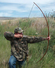 """65"""" SOLID HICKORY BUSHMANS FLATBOW 50-55 POUNDS"""