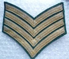 Patch-British Military Drum Major's Rank Chevrons 4 Stripes Rank Patch Green+Gol