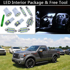 11PCS Xenon White LED Car Interior Lights Package kit Fit 2013-2015 FORD F150 J1
