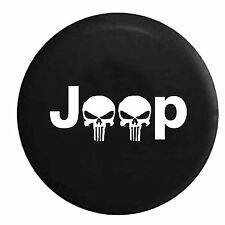 Spare Tire Cover for Jeep Liberty Grand Cherokee Wrangler two Skulls 32 33inch